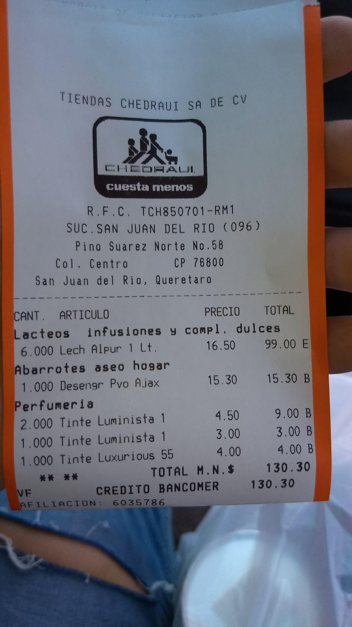 Chedraui SJR QRO: Tintes Revlon $4.50, $4 y $3