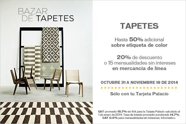 Palacio de Hierro: hasta 50% adicional en tapetes y 20% en mercancía en línea