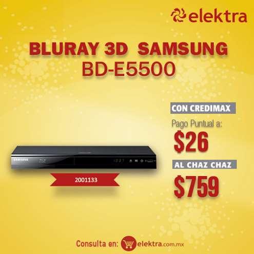 Elektra: reproductor blu-ray Samsung con 3D $759