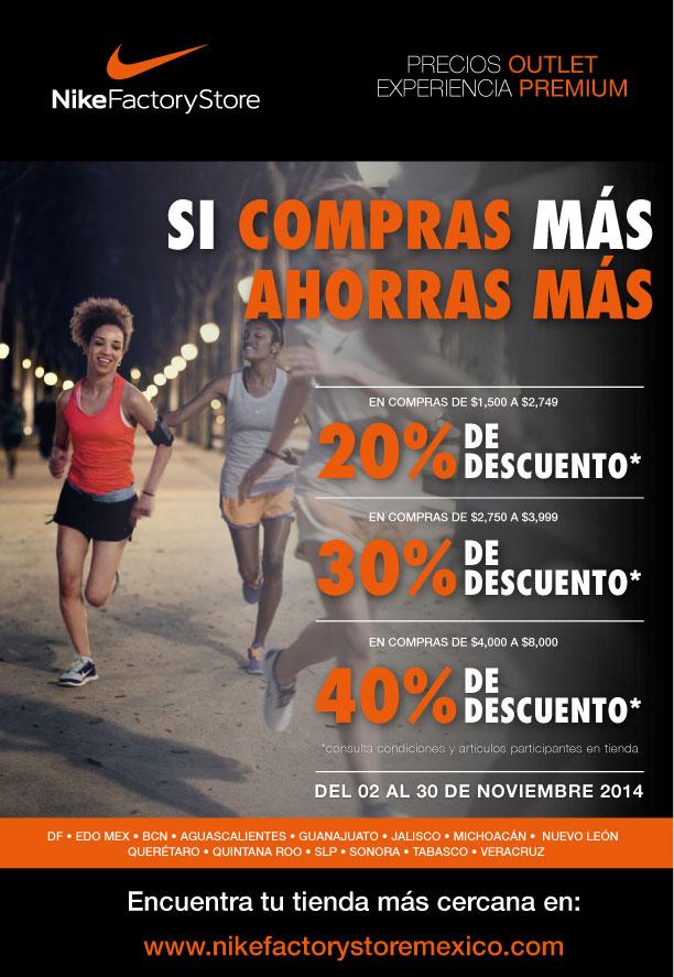 Nike Factory Store: hasta 40% de descuento