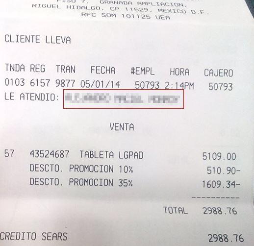 Sears: tablet LG G Pad 8.3 $3,321 ó $2,999 (otras tiendas $5,500 y $7,200)