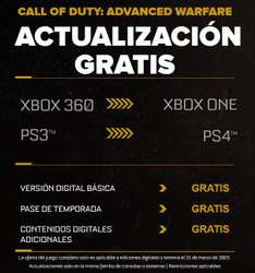 Call of Duty: Advanced Warfare actualización gratis comprando versión digital