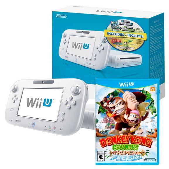 Walmart: WiiU 8GB con Zelda, Donkey Kong y New Super Mario Bros $4,990 ó $4,491