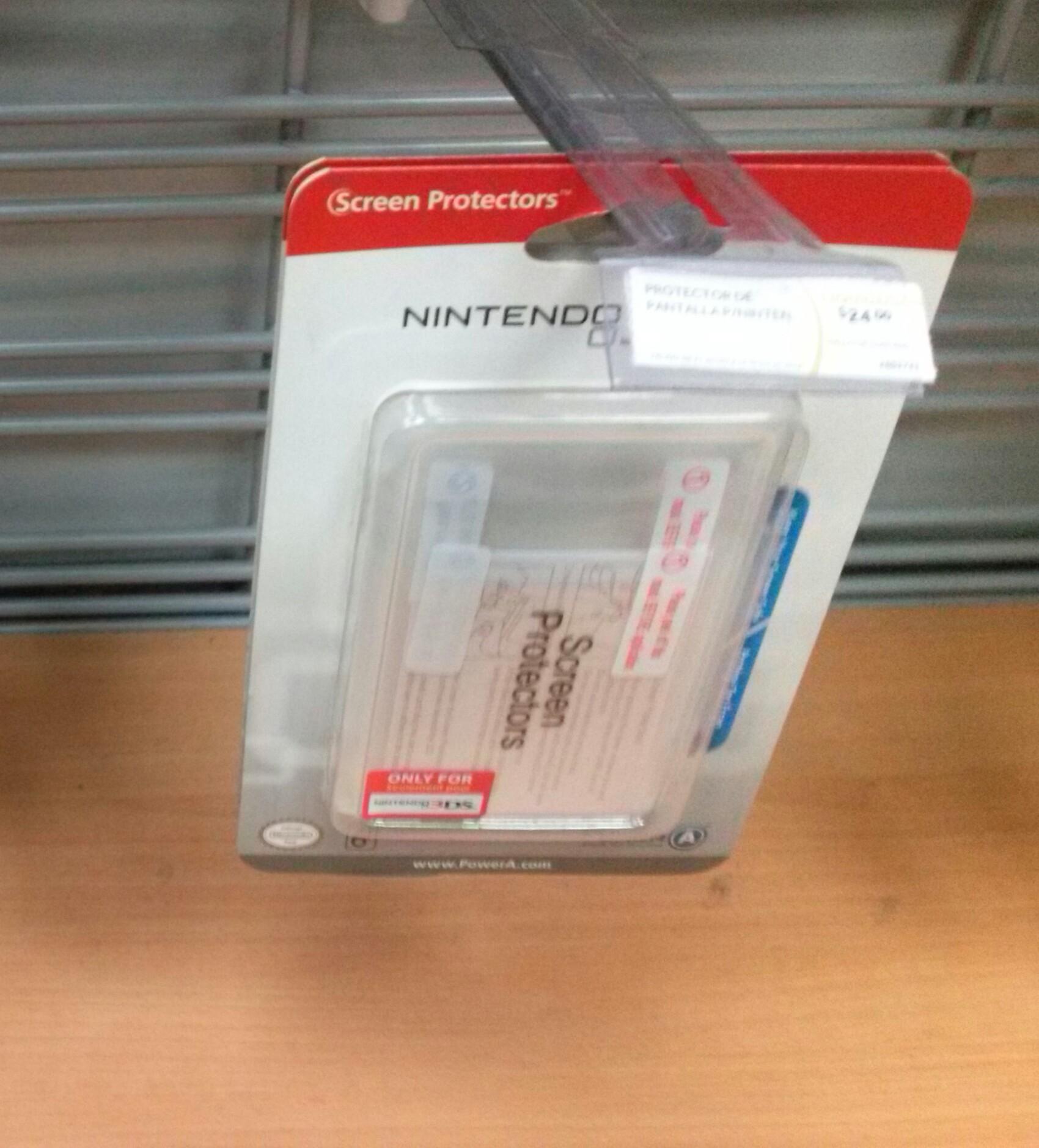 RadioShack: protectores de pantalla para nintendo 3DS $24