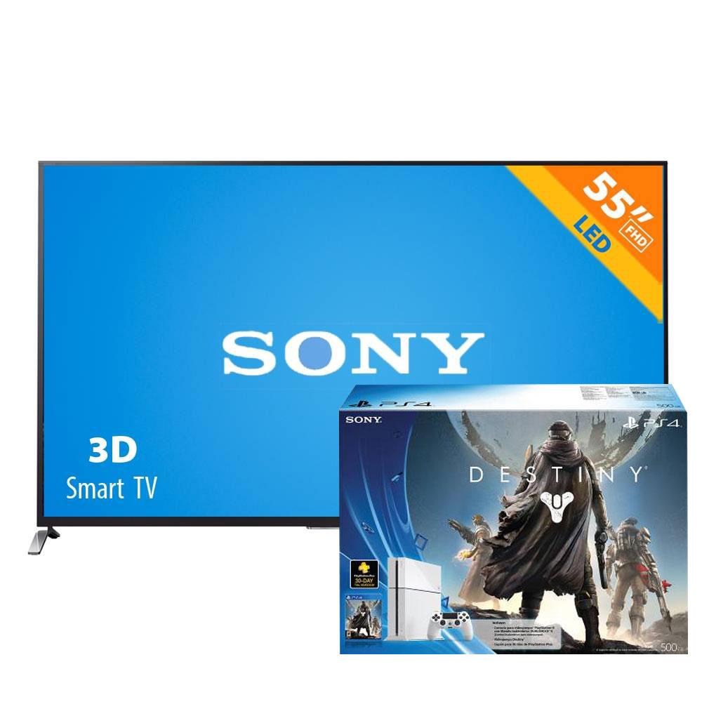 """Walmart adelantos El Buen Fin 2014: pantalla gama alta sony 3D smart tv 55"""" + PS4 con Destiny"""