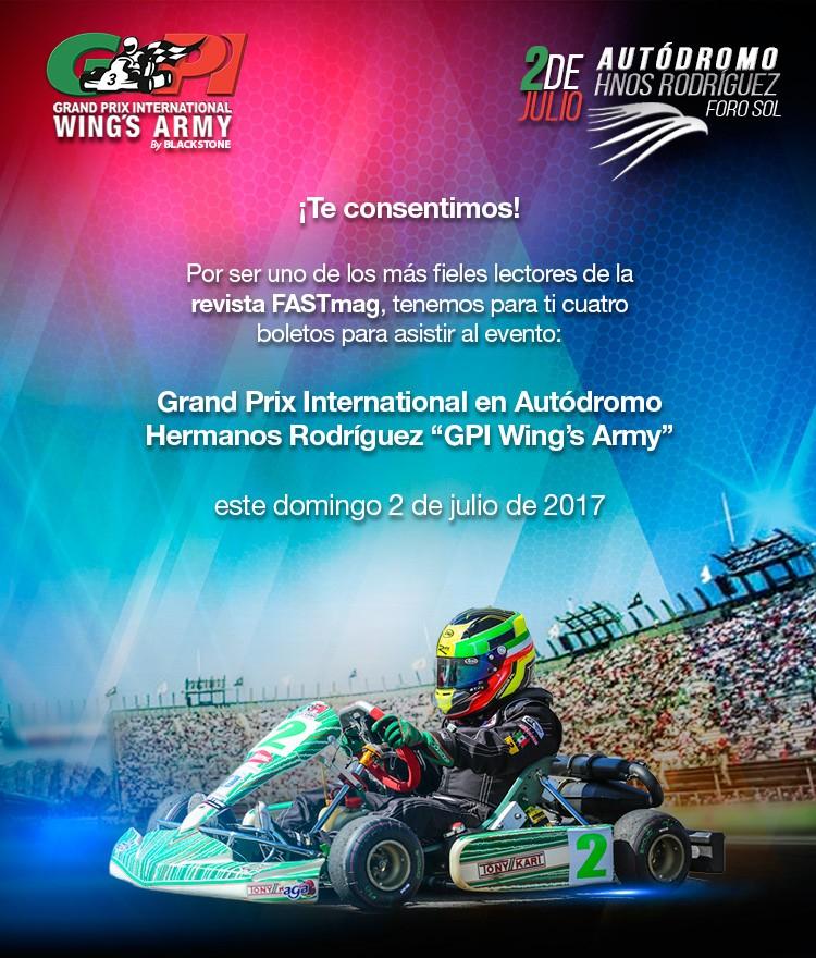 TELMEX: Boletos *** GRATIS *** Grand Prix International Wings Army 2017