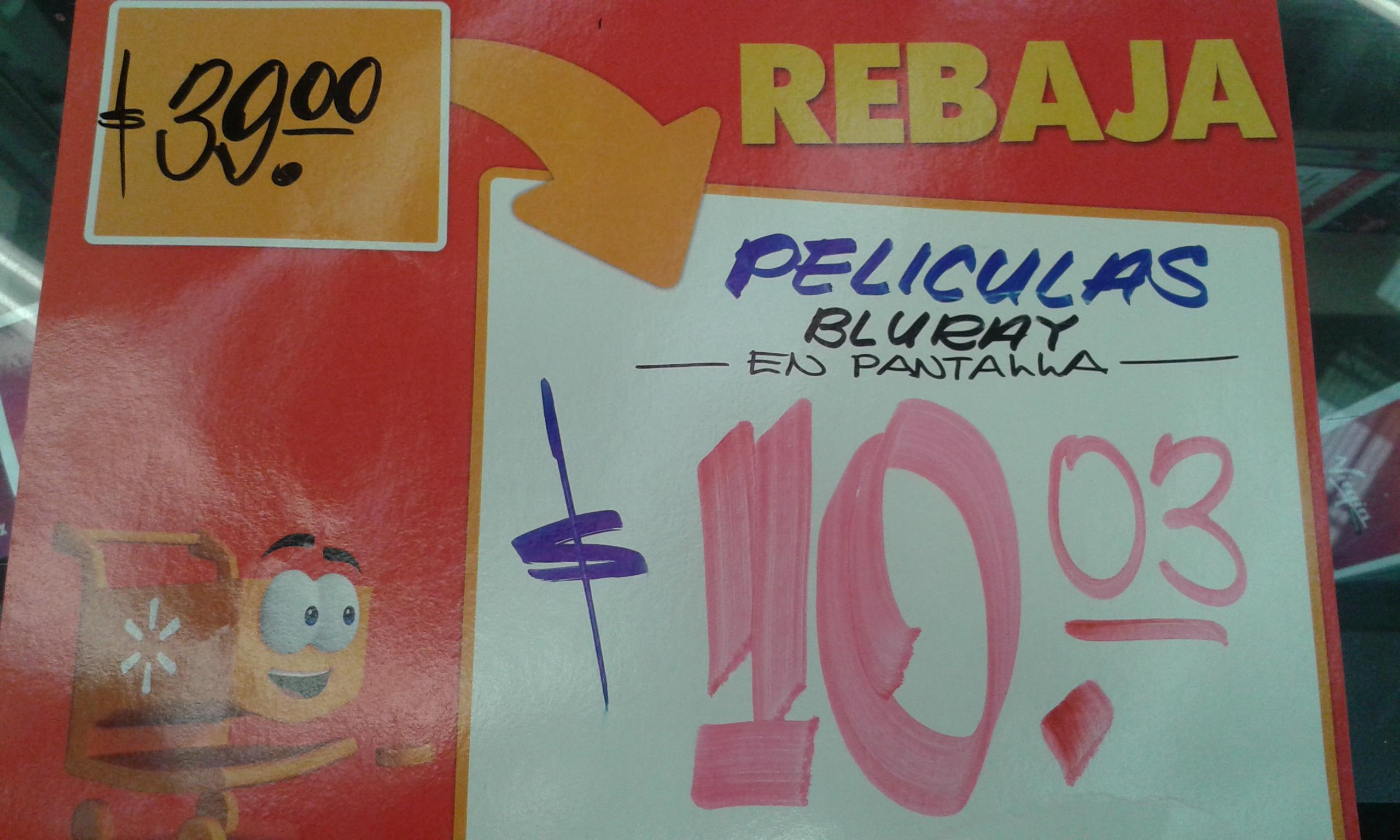 Walmart: Películas en blu-ray $10