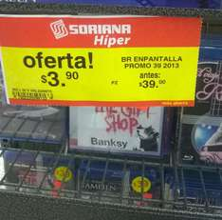 Soriana Híper: Películas blu-ray $3.90
