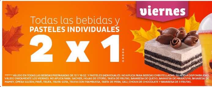 Pastelerías El Globo: promociones diferentes de lunes a viernes