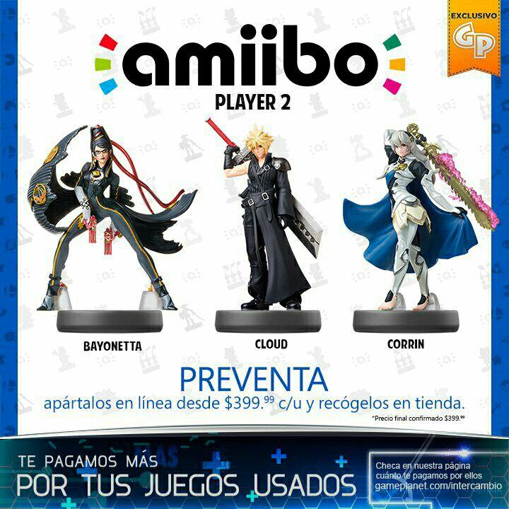Game Planet: Amiibo Cloud P2 Bayonetta P2 Corrín P2