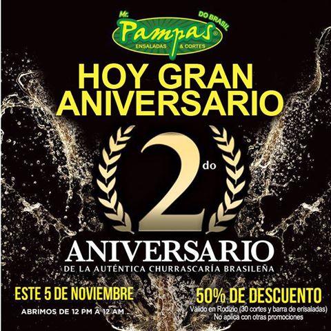 Mr Pampas: 50% de descuento (Monterrey)
