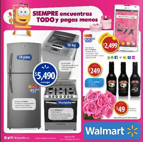 Folleto de ofertas en Walmart del 1 al 11 de mayo