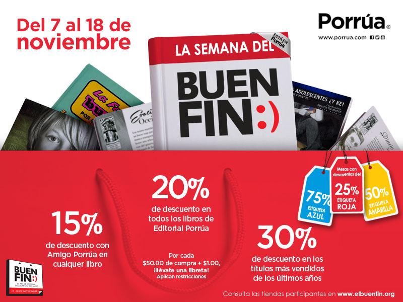 Ofertas del Buen Fin 2014 Librerías Porrúa
