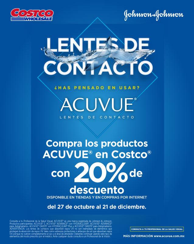 Costco: lentes de contacto Acuve con 20% de descuento
