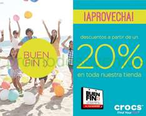 Promociones del Buen Fin 2014 en tiendas Crocs