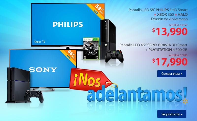 """Adelantos El Buen Fin 2014 en Walmart: Sony Led, Fhd, Smart 46"""" + PS4 $17,990"""