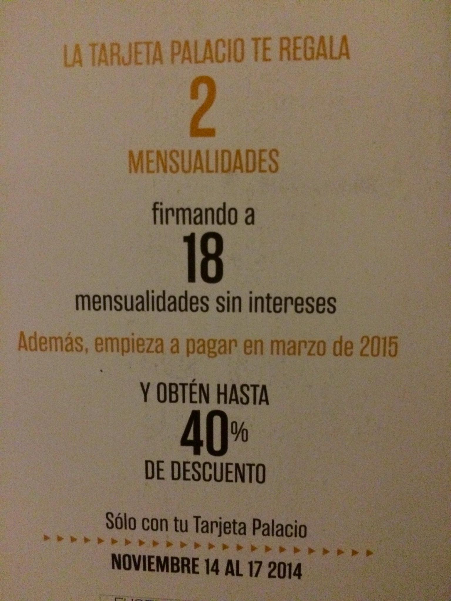 Ofertas del Buen Fin 2014 Palacio de Hierro