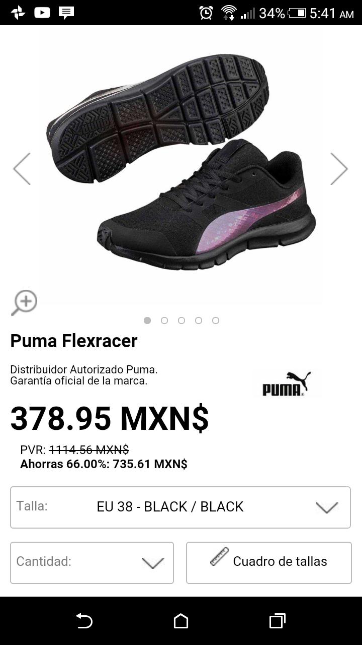 Ouletinn: Tenis Puma súper oferta para Dama