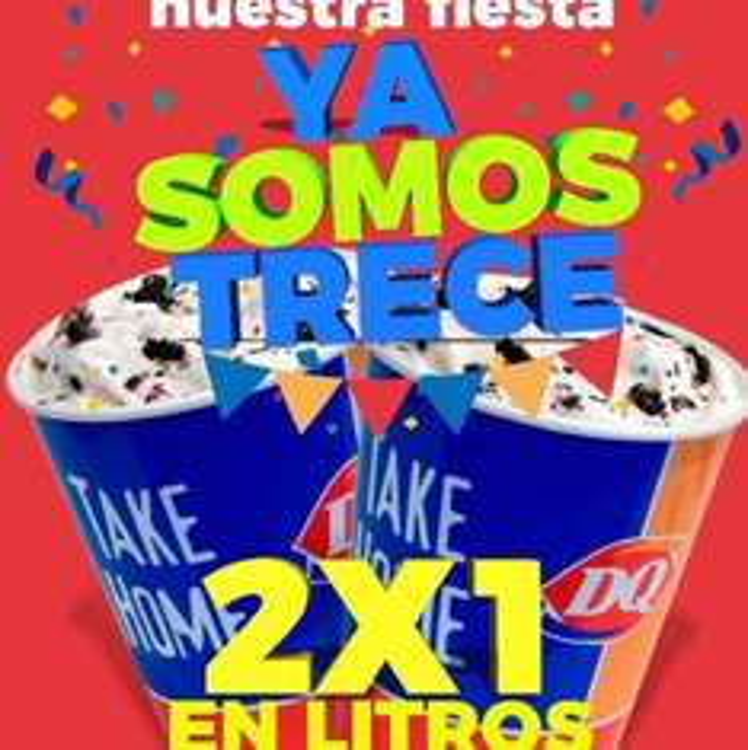 Dairy Queen MTY: 2x1 Litros de Nieve Jueves 13 de Julio