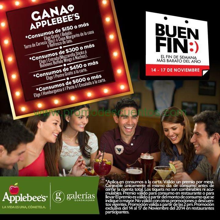Promociones del Buen Fin 2014 en restaurantes Applebee's