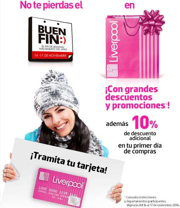 Ofertas del Buen Fin 2014 en Liverpool: 10% extra sacando tarjeta