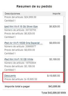 Palacio de Hierro: iPad Air $6,061, iPad Mini Retina $4,689, MacBook Pro $12,599 y más