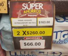Superama: Pañales Huggies ultra confort 2x260, supreme 2x$340