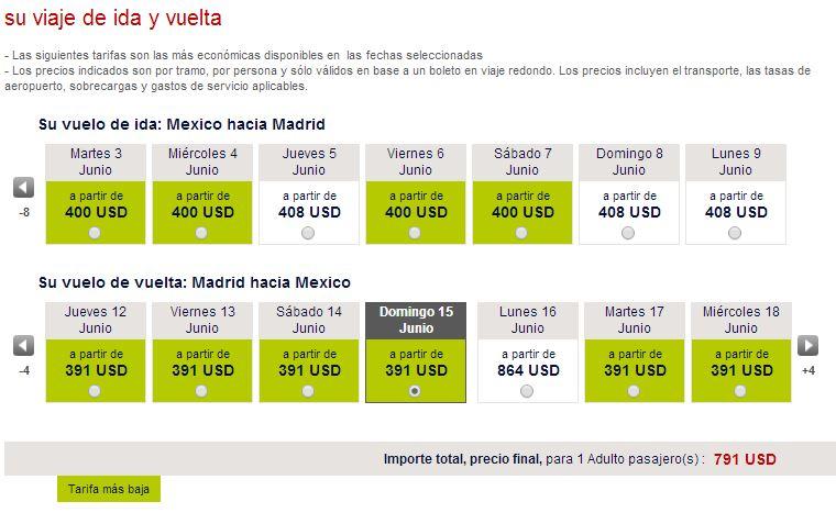 Air France: vuelo Redondo a Madrid desde 798 dólares