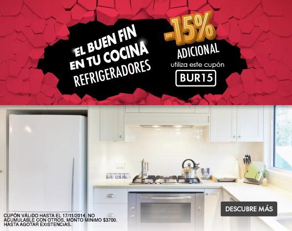 Ofertas El Buen Fin en Linio: 15% de descuento en refrigeradores con cupón BUR15
