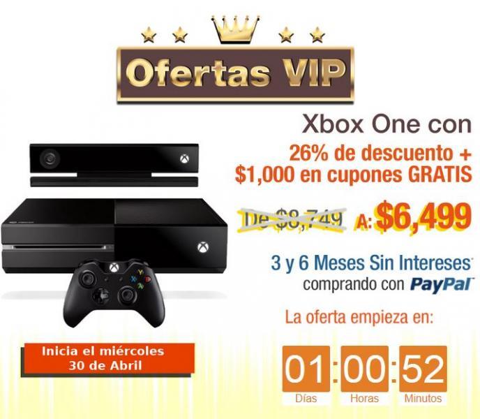 Decompras: Xbox One $6,499, 6 MSI y $1,000 de bonificación