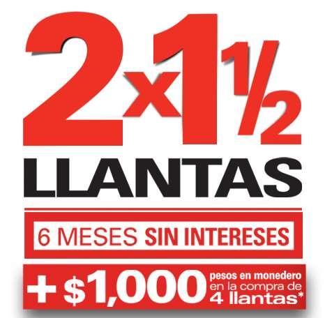 Ofertas del Buen Fin 2014 en Bridgestone: 2x1 y medio en llantas