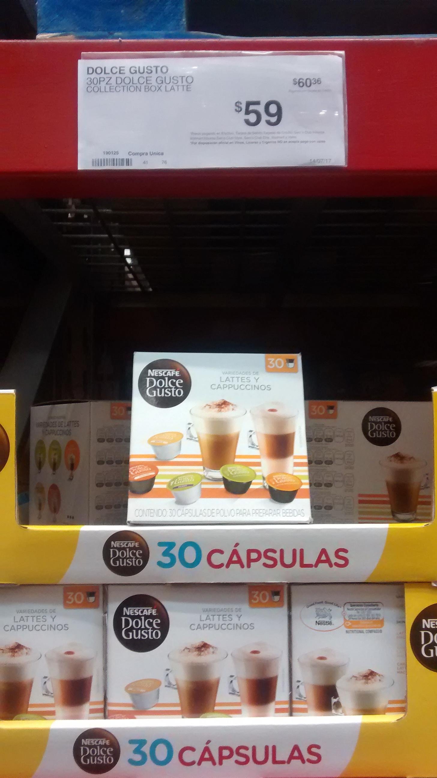 Sam's Club: 30 Cap. Dolce Gusto Lattes y Cappuccinos
