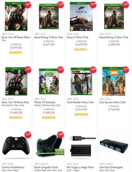 Linio: Dead Rising 3, Forza 5 o Ryse para Xbox One $577, control $594 y más