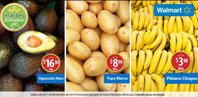 Martes de frescura en Walmart noviembre 11: plátano $3.90/Kg y más