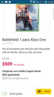 Coppel: Battlefield 1 para Xbox One