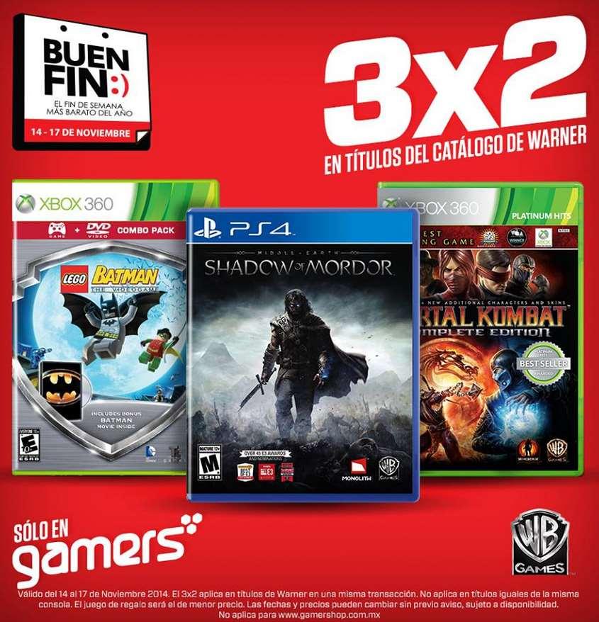 Ofertas del Buen Fin 2014 en Gamers: 3x2 en juegos de Warner, Ubisoft y más