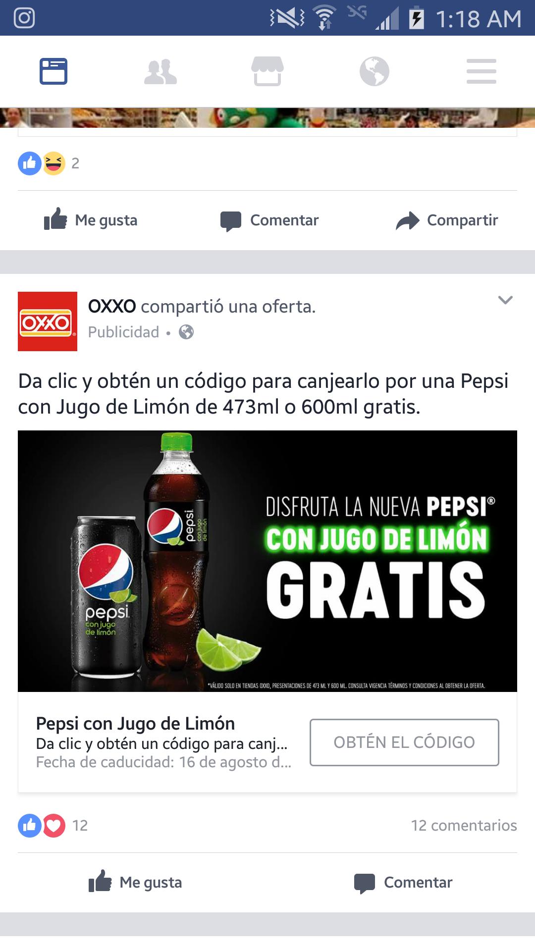 Oxxo: Pepsi con Jugo de Limón de 473ml o 600ml gratis