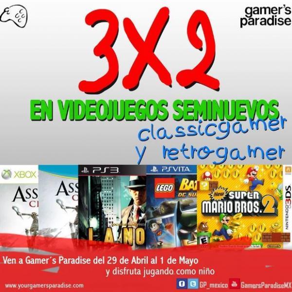 Gamer's Paradise: 3x2 en juegos seminuevos