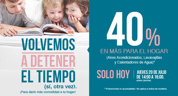 Tienda MABE en linea: ¡Aprovecha 40% en Lavavajillas, Aires Acondicionados y Calentadores de Agua! | Vigencia 20 de julio de 14:00 a 16:00 hora del centro.