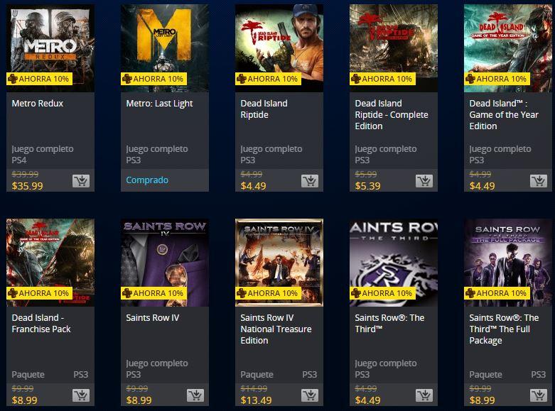 Oferta Semanal PSN Store, juegos Deepsilver: Metro, Dead Island, Saints Row
