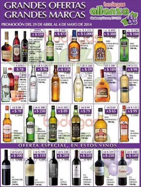 Bodegas Alianza: Chivas Regal $388, tequila Don Roberto $59 y más