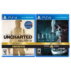 Elektra: juegos de Uncharted Collection + Until Dawn para PS4
