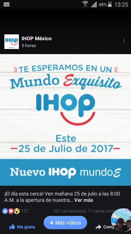 IHOP Mundo E: 1° 50 clientes = Pancakes GRATIS un año