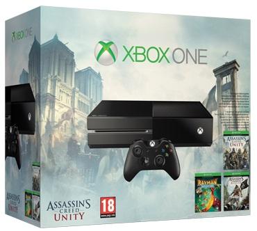 Linio: Consola Xbox One 500gb + Assassins Creed Unity & Blackflag $4,949