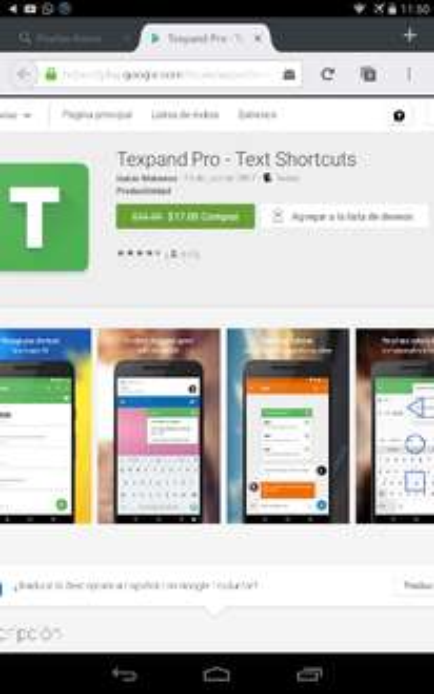 "Google Play  ""Texpand Pro - Text Shortcuts""."