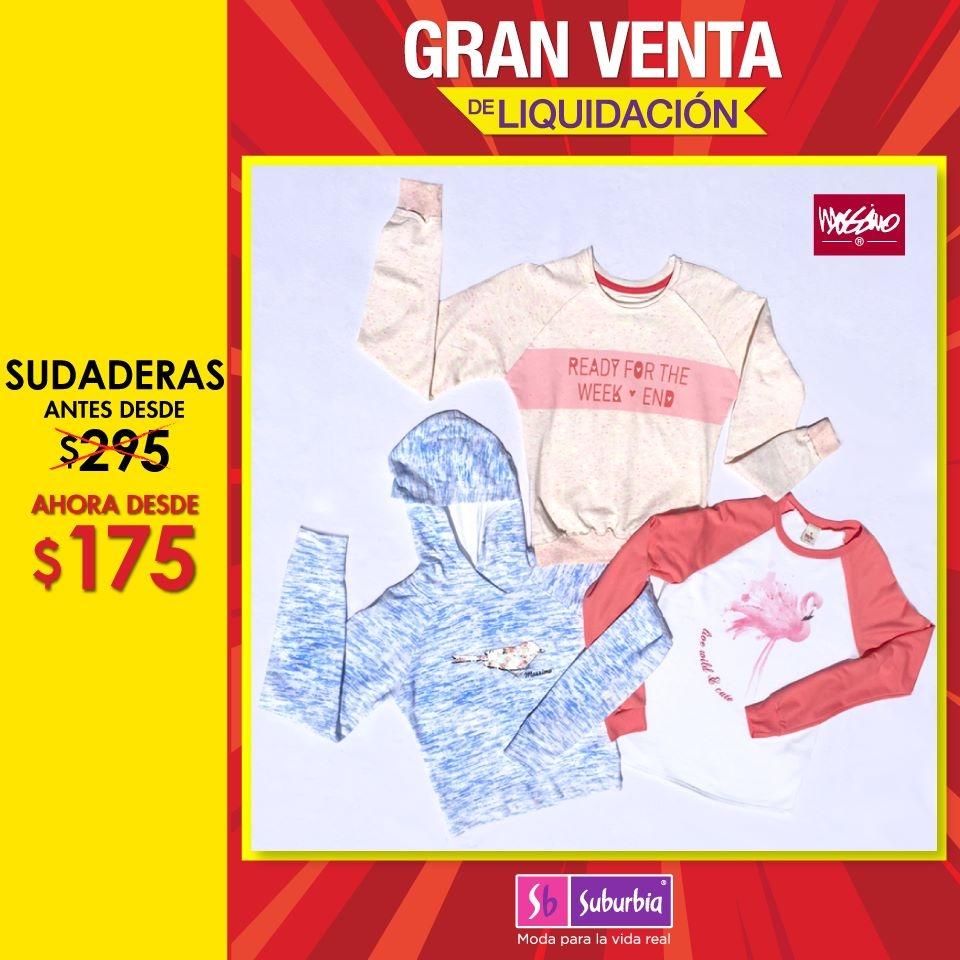 Suburbia: sudaderas mossino desde $175