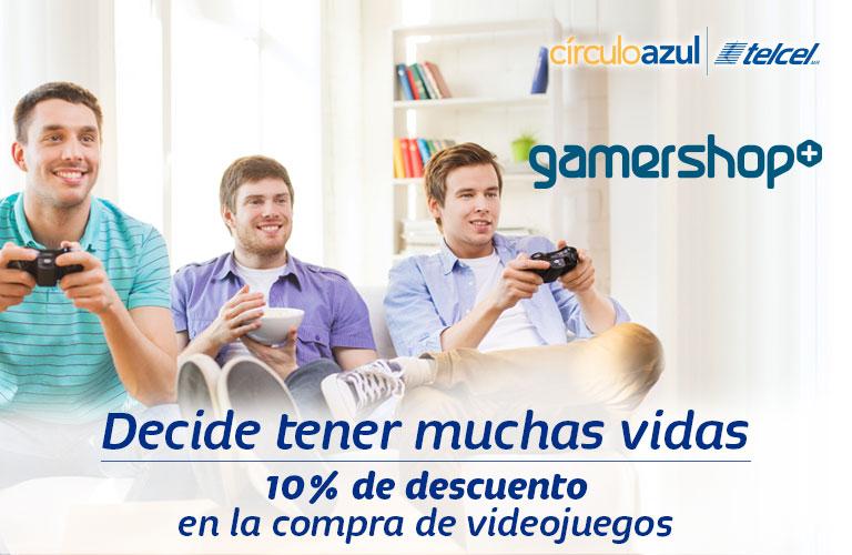 Gamers Shop y Circulo Azul: cupón de 10% de descuento en videojuegos