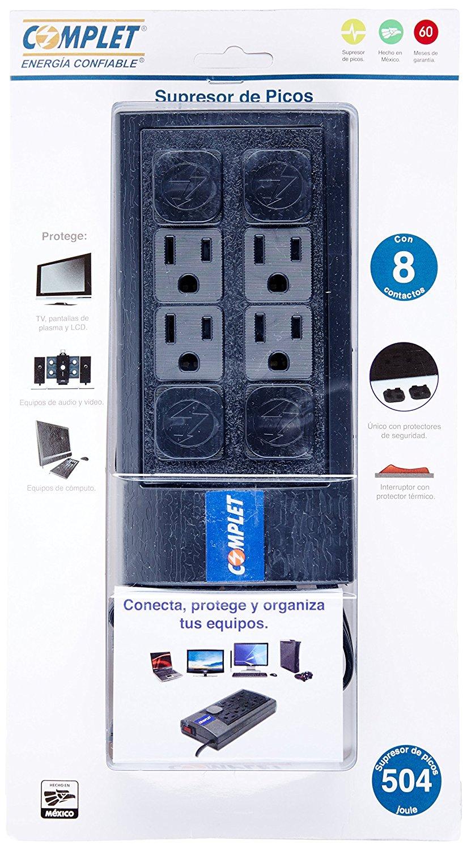 Amazon: Multicontacto Complet BRC-1-002 8 contactos supresor de picos