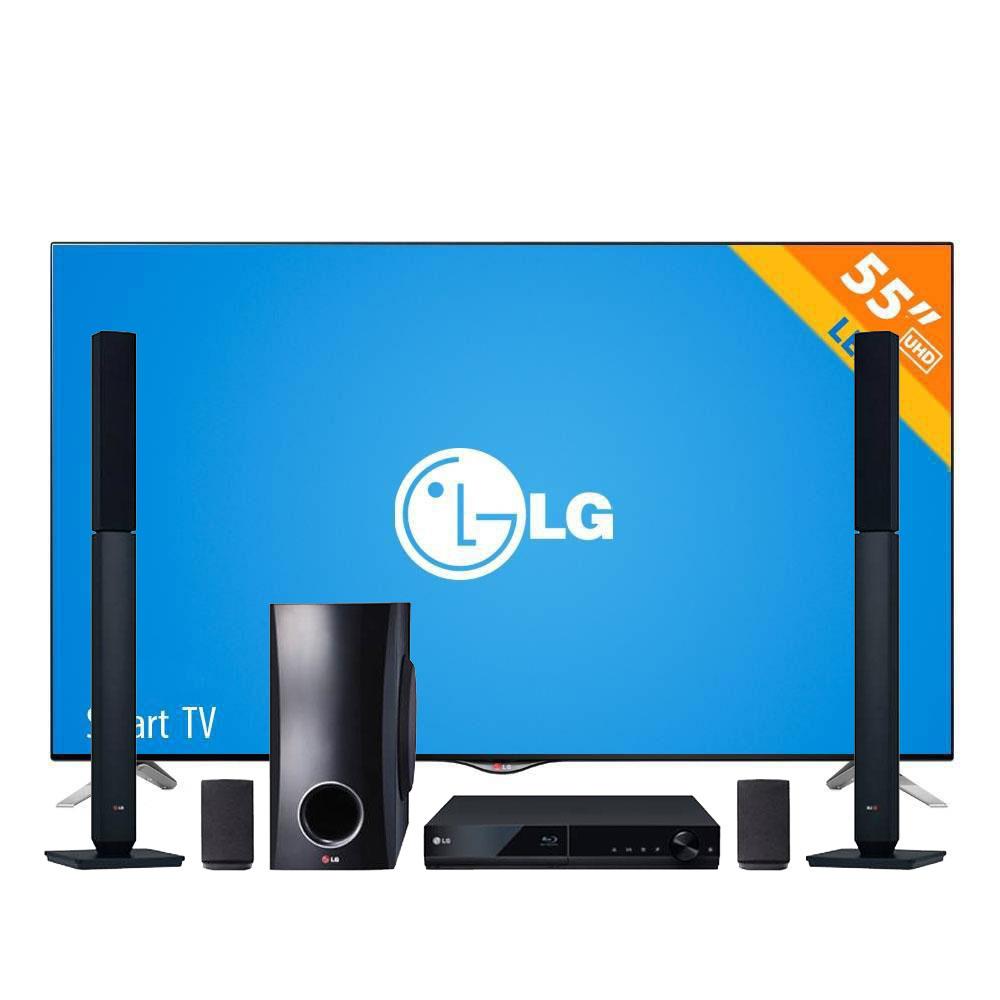 """Pre Buen Fin Walmart: LED TV LG 55"""" UHD (4K) + BluRay con teatro en casa de 5.1 canales LG $16,990"""
