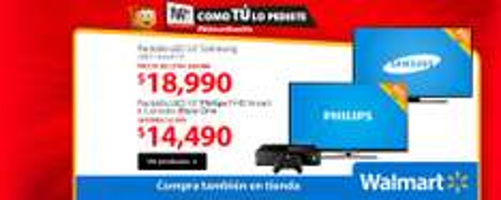 Ofertas del Buen Fin en Walmart 2014: smart tv phillps 55 mas xbox one $14490 en la noche